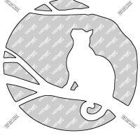 Tallar Calabaza con Dibujo de un Gato Negro