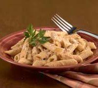 Pasta con salsa de calabaza