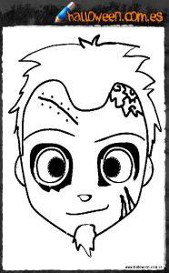 Careta de Zombie para Chico