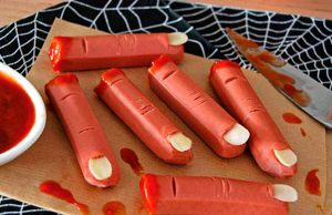 Comida en una fiesta de Halloween